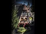 Steep Pitched Roof Home along wall in Rothenburg - Germany-29
